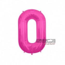 Pallone Numero 0 Fucsia 40 cm