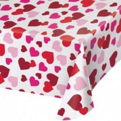 Tovaglia Plastica Hearts 137x259 cm