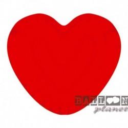 10 Piatti Carta Cuore Rosso 20 cm