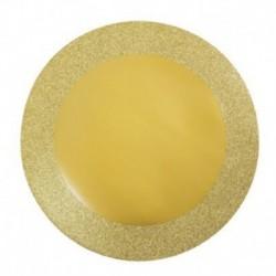 8 Sottopiatti Oro Plastica 35 cm