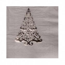 16 Tovaglioli Argento Foil Tree 25x25 cm