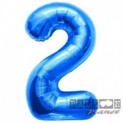 Pallone Numero 2 Blu 90 cm
