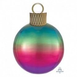Pallone Natale Orbz Arcobaleno 40 cm