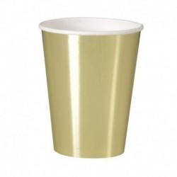 8 Bicchieri Carta Oro Metal 355 ml
