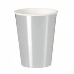 8 Bicchieri carta Argento Metal 355 ml