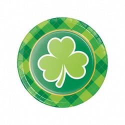 8 Piatti Tondi Carta St Patrick 18 cm
