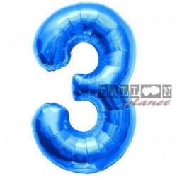 Pallone Numero 3 Blu 90 cm