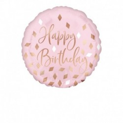 Pallone Rose Gold Birthday 45 cm