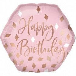 Pallone Rose Gold Birthday 60 cm