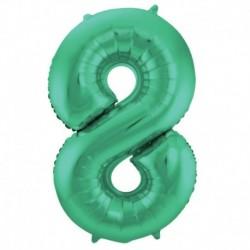 Pallone Numero 8 Verde 90 cm
