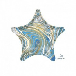 Pallone Stella Marblez Blu 45 cm