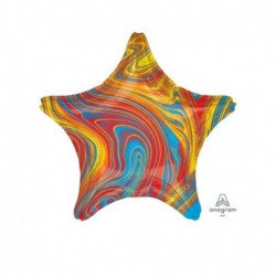 Pallone Stella Marblez Colorful 45 cm