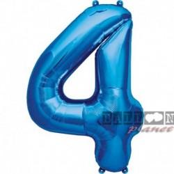 Pallone Numero 4 Blu 90 cm