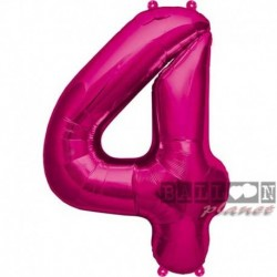 Pallone Numero 4 Fucsia 90 cm