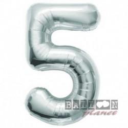 Pallone Numero 5 Argento 90 cm