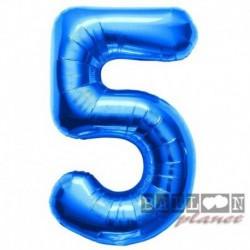 Pallone Numero 5 Blu 90 cm