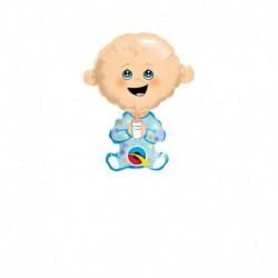 Pallone Bebè Azzurro 30 cm