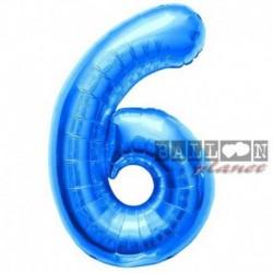 Pallone Numero 6 Blu 90 cm