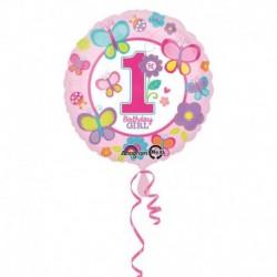 Pallone 1st Birthday Girl 45 cm