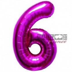 Pallone Numero 6 Fucsia 90 cm