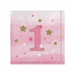 16 Tovaglioli Carta 1°Compleanno 25x25 cm