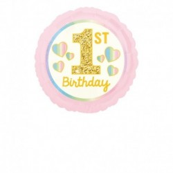 Pallone 1st Birthday Pink & Gold 45 cm