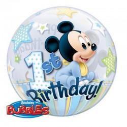 Pallone Bubble Baby Mickey 55 cm