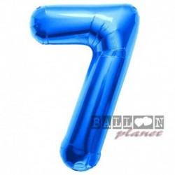 Pallone Numero 7 Blu 90 cm