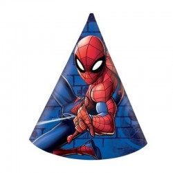 6 Cappellini Carta Spiderman 12x16 cm