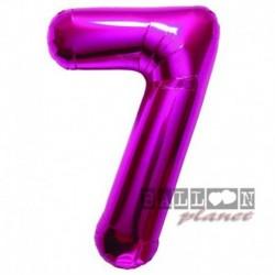 Pallone Numero 7 Fucsia 90 cm