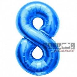 Pallone Numero 8 Blu 90 cm