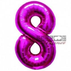 Pallone Numero 8 Fucsia 90 cm