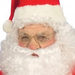 Occhiali Babbo Natale Dorati