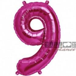 Pallone Numero 9 Fucsia 90 cm