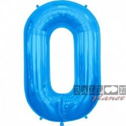 Pallone Numero 0 Blu 90 cm
