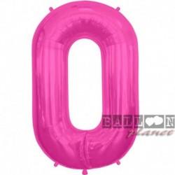 Pallone Numero 0 Fucsia 90 cm