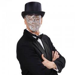 Maschera Plastica Viso Argento