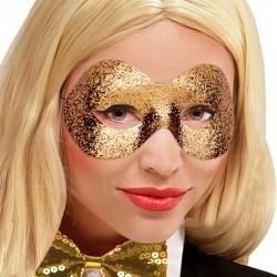 Maschera Tessuto Fidelio Oro Glitter
