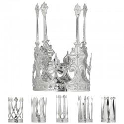 Mini Corona Reale Metallo Argento