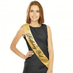 Fascia Raso Bithday Girl 85 cm