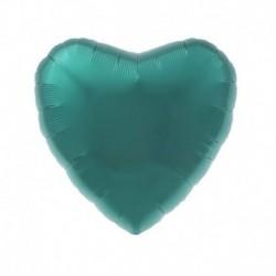 Pallone Cuore Verde Acqua 45 cm