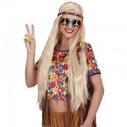 Collana Metallo Peace Love Hippie