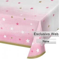 Tovaglia plastica 1° Compleanno Brilla la Stellina 137x274 cm