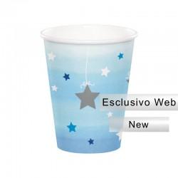 8 Bicchieri Carta 1° Compleanno Stellina 266 ml