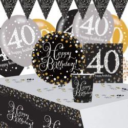 Set Festa 40 Anni Happy Birthday 41 pz