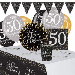 Set Festa 50 Anni Happy Birthday 41 pz