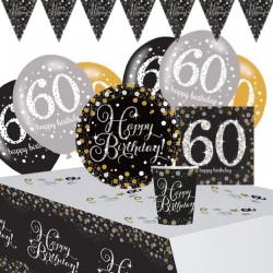 Set Festa 60 Anni Happy Birthday 41 pz