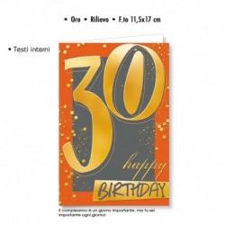 Biglietto Auguri Compleanno 30 Anni
