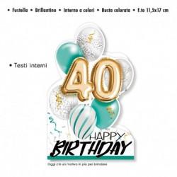 Biglietto Auguri Compleanno 40 Anni
