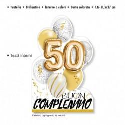 Biglietto Auguri Compleanno 50 Anni